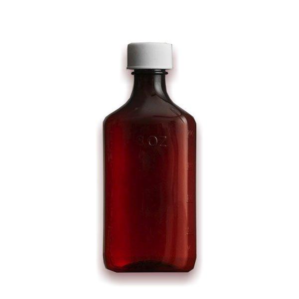 12 oz Medicine Bottles with Child-Resistant Caps, Amber