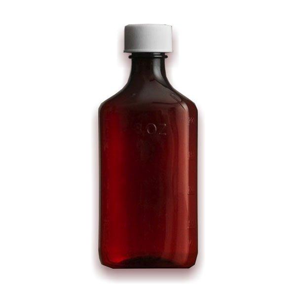 16 oz Medicine Bottles with Child-Resistant Caps, Amber