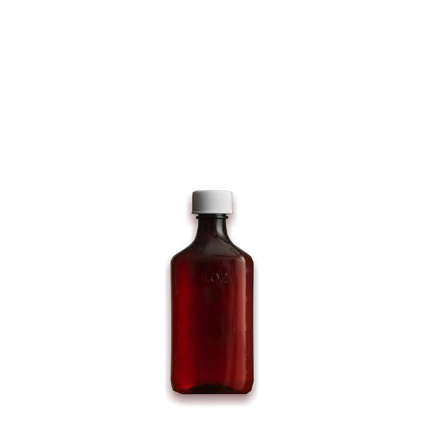 2 oz Medicine Bottles with Child-Resistant Caps, Amber