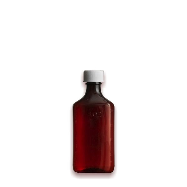4 oz Medicine Bottles with Child-Resistant Caps, Amber