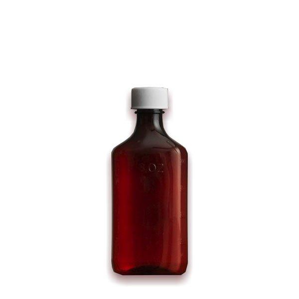 6 oz Medicine Bottles with Child-Resistant Caps, Amber