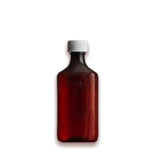8 oz Medicine Bottles with Child-Resistant Caps, Amber