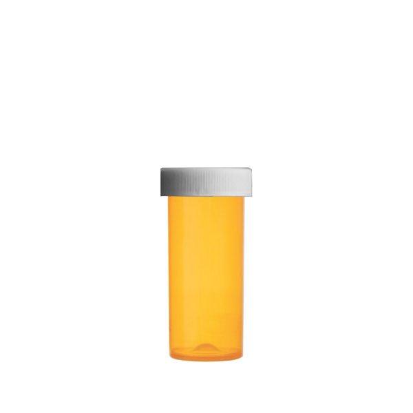 16 Dram Premium Pill Bottles with Child Resistant Caps, Amber