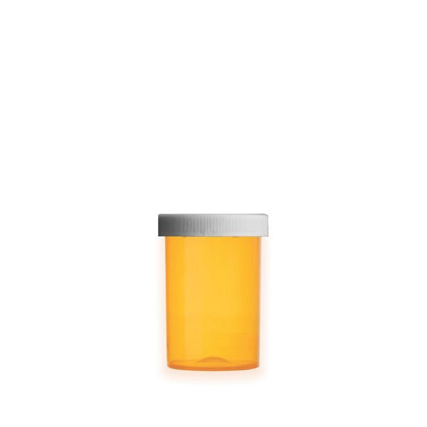 20 Dram Premium Pill Bottles with Child Resistant Caps, Amber