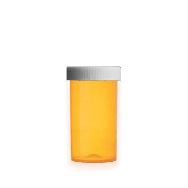 40 Dram Premium Pill Bottles with Child Resistant Caps, Amber