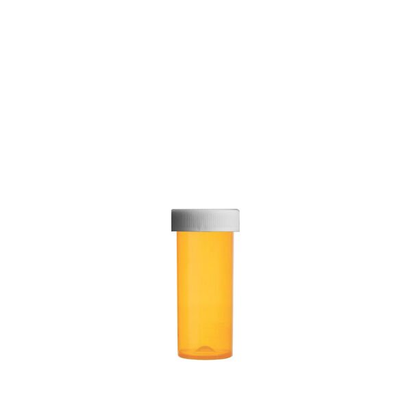 6 Dram Premium Pill Bottles with Child Resistant Caps, Amber