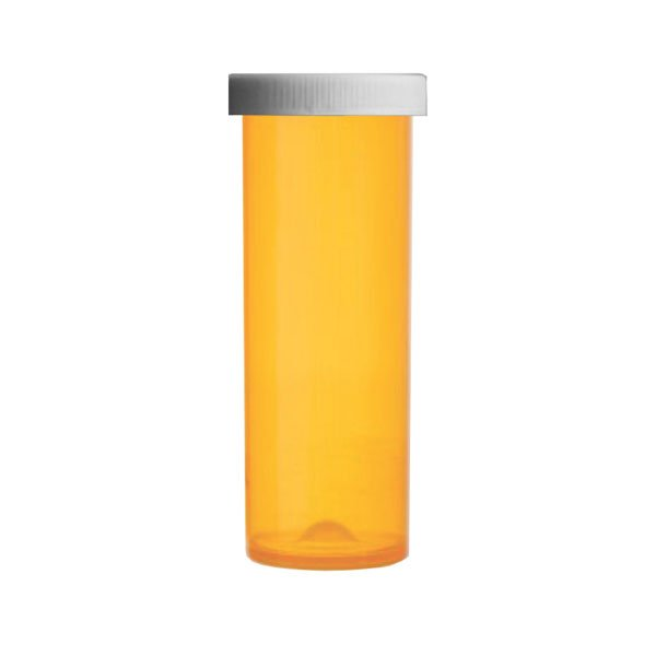 60 Dram Premium Pill Bottles with Child Resistant Caps, Amber