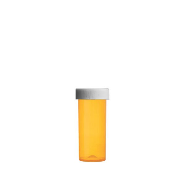 8 Dram Premium Pill Bottles with Child Resistant Caps, Amber