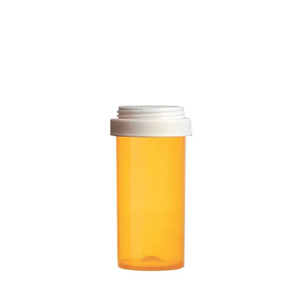 30 Dram Premium Pill Bottles with Reversible Dual Purpose Caps, Amber