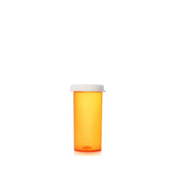 13 Dram Pill Bottles with Snap Caps, Amber