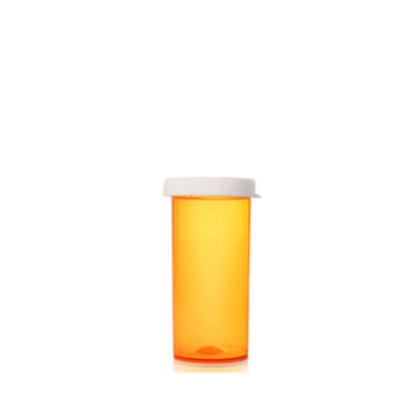 16 Dram Pill Bottles with Snap Caps, Amber