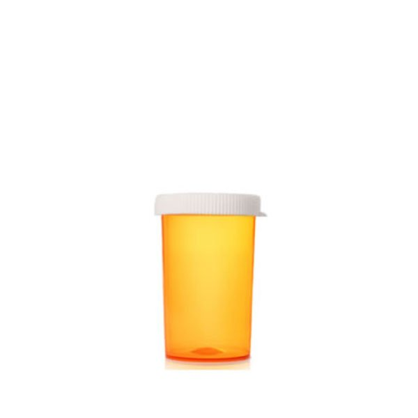 30 Dram Pill Bottles with Snap Caps, Amber