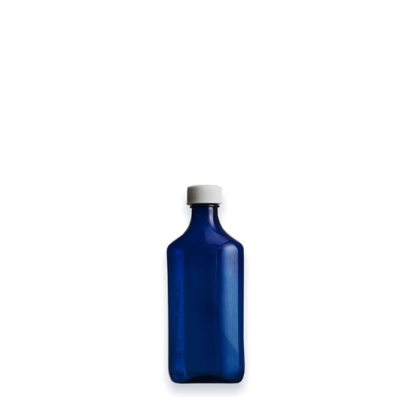 2 oz Medicine Bottles with Child-Resistant Caps, Blue