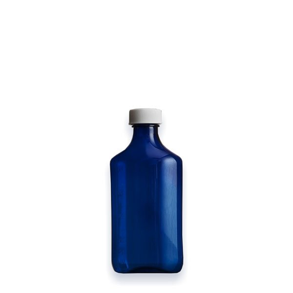 4 oz Medicine Bottles with Child-Resistant Caps, Blue