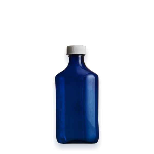 6 oz Medicine Bottles with Child-Resistant Caps, Blue