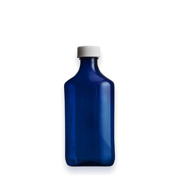 8 oz Medicine Bottles with Child-Resistant Caps, Blue