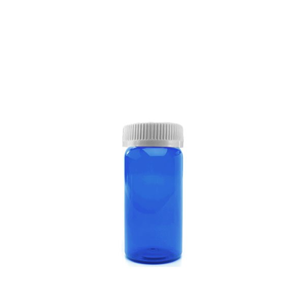 16 Dram Packer Vials with Child Resistant Caps, Blue