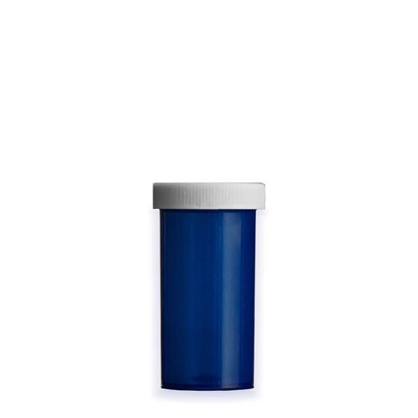 13 Dram Premium Pill Bottles with Child Resistant Caps, Blue