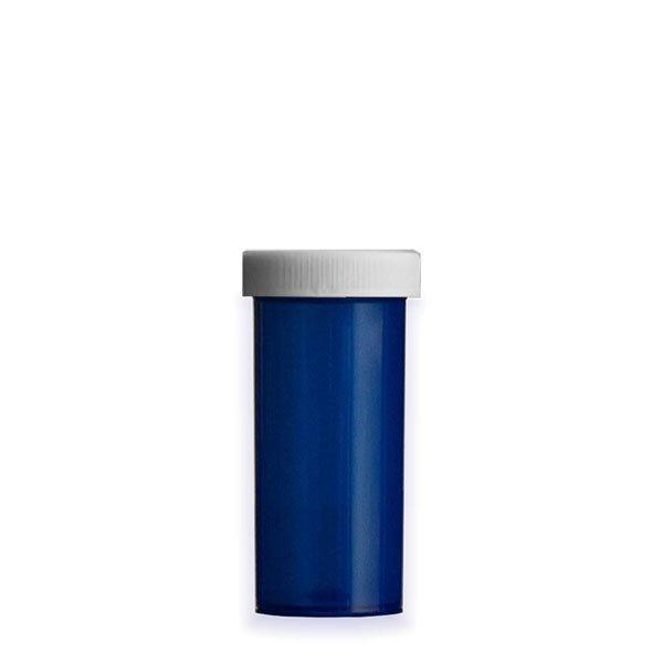 16 Dram Premium Pill Bottles with Child Resistant Caps, Blue