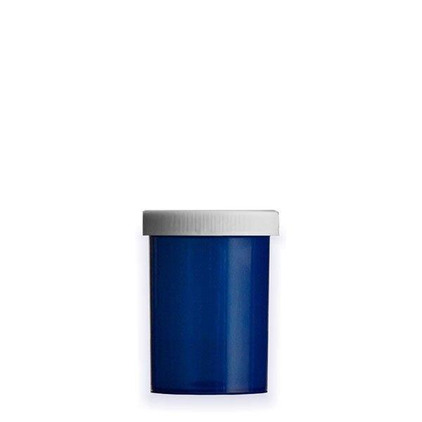 20 Dram Premium Pill Bottles with Child Resistant Caps, Blue