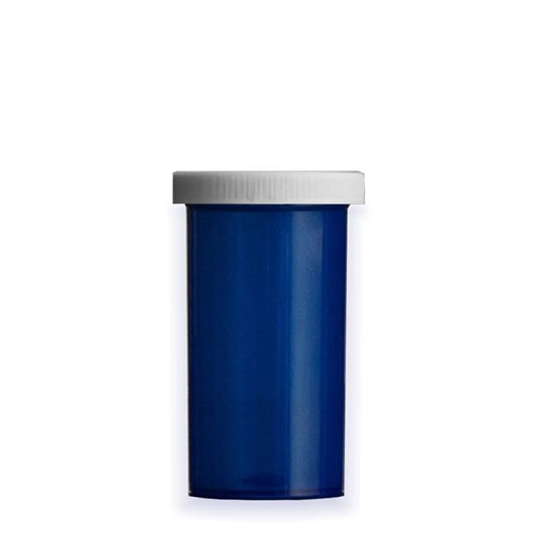 40 Dram Premium Pill Bottles with Child Resistant Caps, Blue