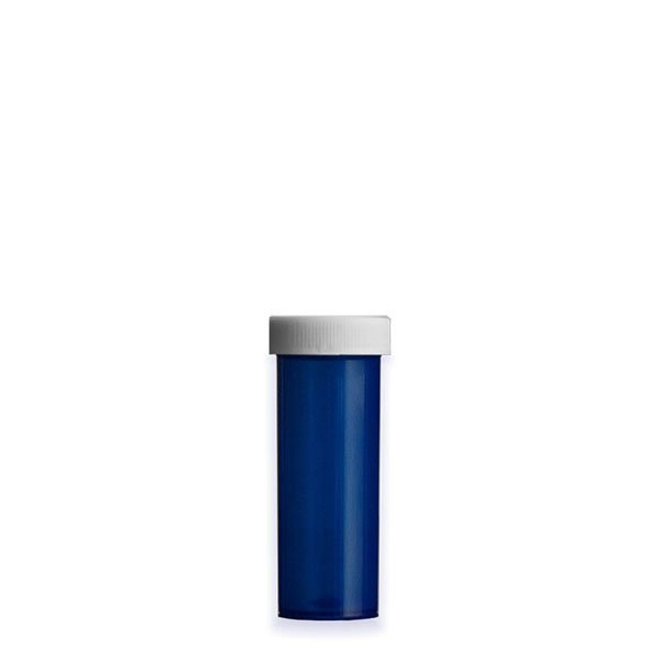 6 Dram Premium Pill Bottles with Child Resistant Caps, Blue