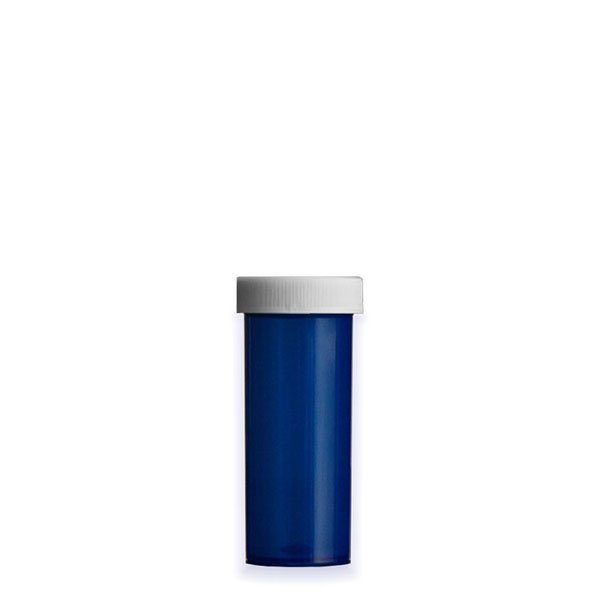 8 Dram Premium Pill Bottles with Child Resistant Caps, Blue