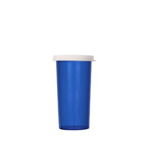 40 Dram Pill Bottles with Snap Caps, Blue