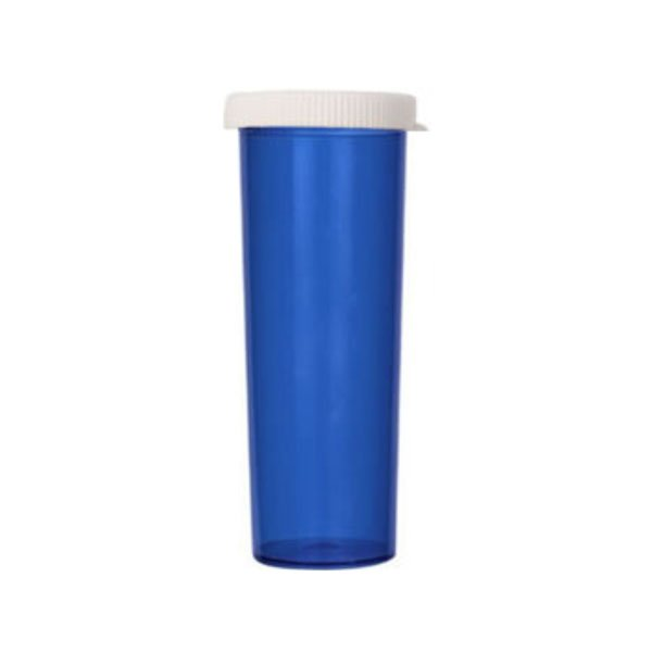 60 Dram Pill Bottles with Snap Caps, Blue