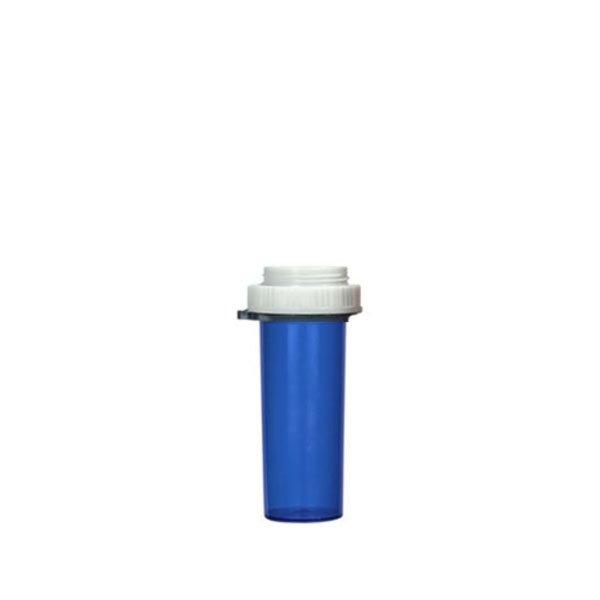10 Dram Thumb Tab Vials with Reversible Dual Purpose Caps, Blue