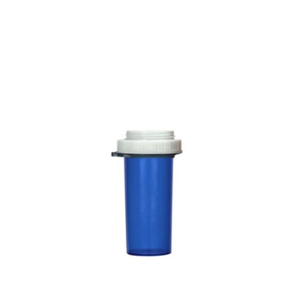 13 Dram Thumb Tab Vials with Reversible Dual Purpose Caps, Blue