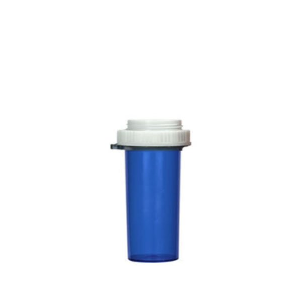 16 Dram Thumb Tab Vials with Reversible Dual Purpose Caps, Blue