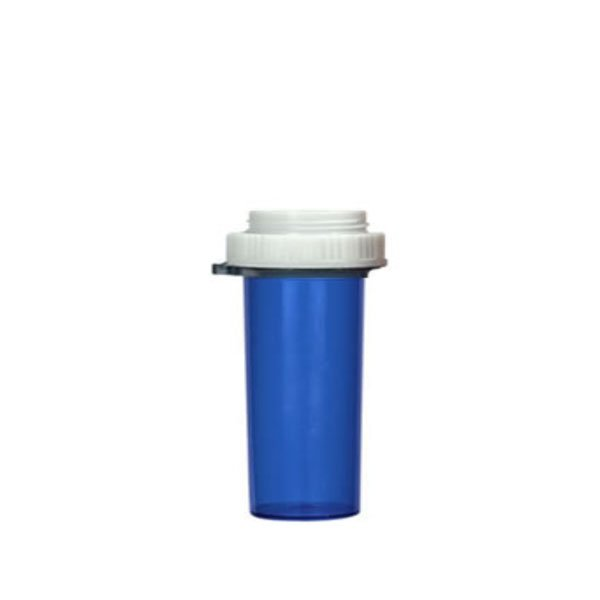20 Dram Thumb Tab Vials with Reversible Dual Purpose Caps, Blue