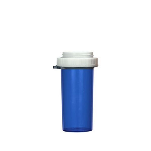 40 Dram Thumb Tab Vials with Reversible Dual Purpose Caps, Blue