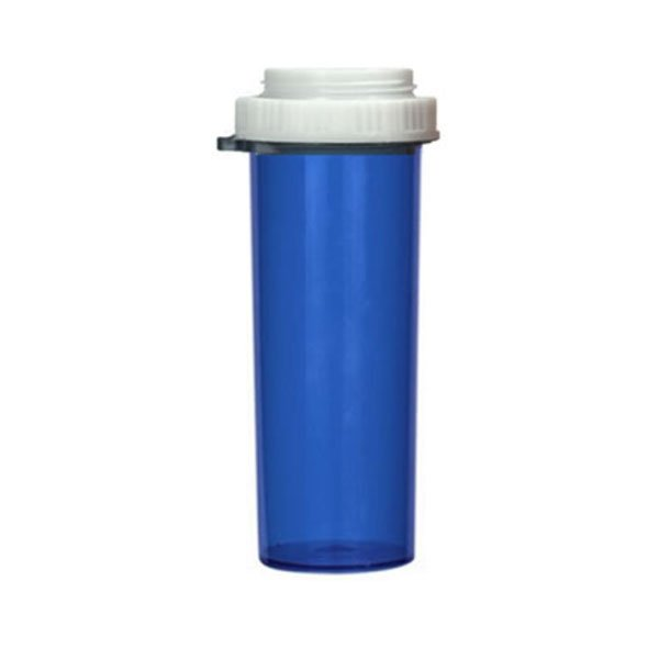 60 Dram Thumb Tab Vials with Reversible Dual Purpose Caps, Blue