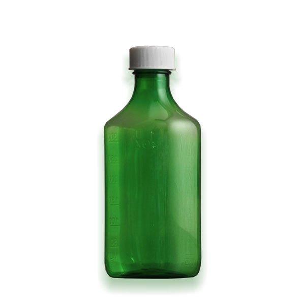 12 oz Medicine Bottles with Child-Resistant Caps, Green