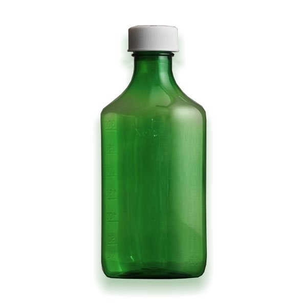 16 oz Medicine Bottles with Child-Resistant Caps, Green