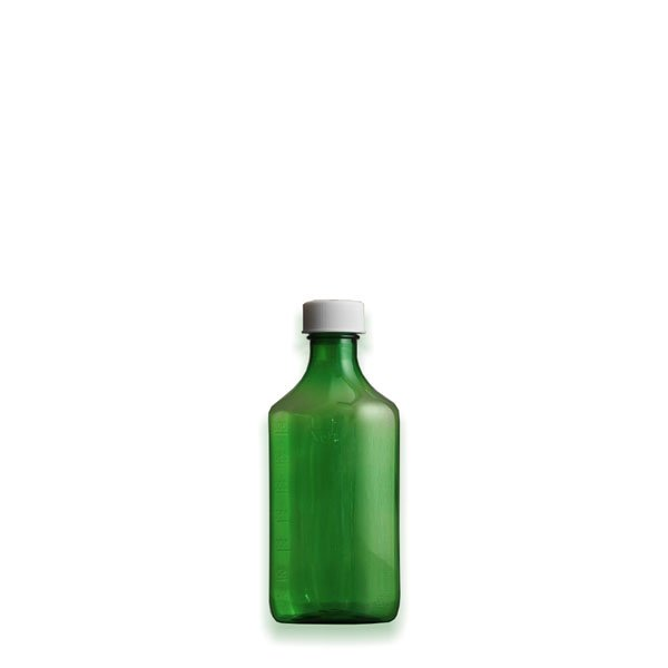 2 oz Medicine Bottles with Child-Resistant Caps, Green