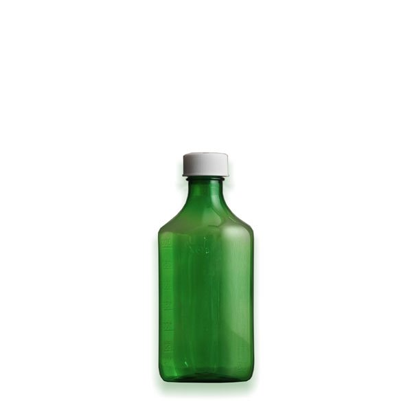 4 oz Medicine Bottles with Child-Resistant Caps, Green