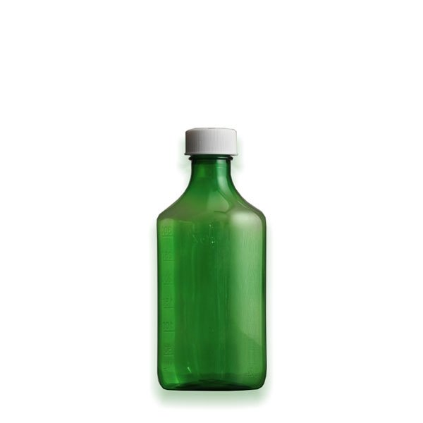 6 oz Medicine Bottles with Child-Resistant Caps, Green