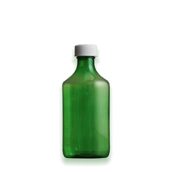 8 oz Medicine Bottles with Child-Resistant Caps, Green