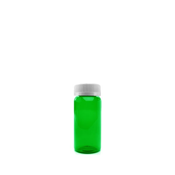 11 Dram Packer Vials with Child Resistant Caps, Green