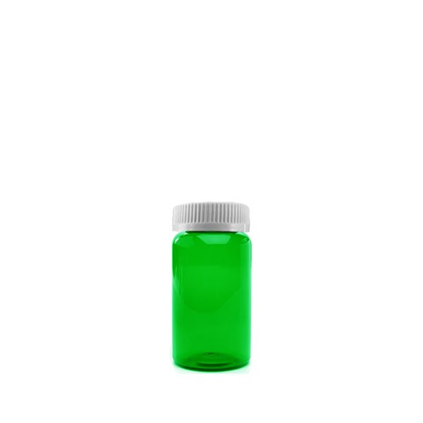13 Dram Packer Vials with Child Resistant Caps, Green