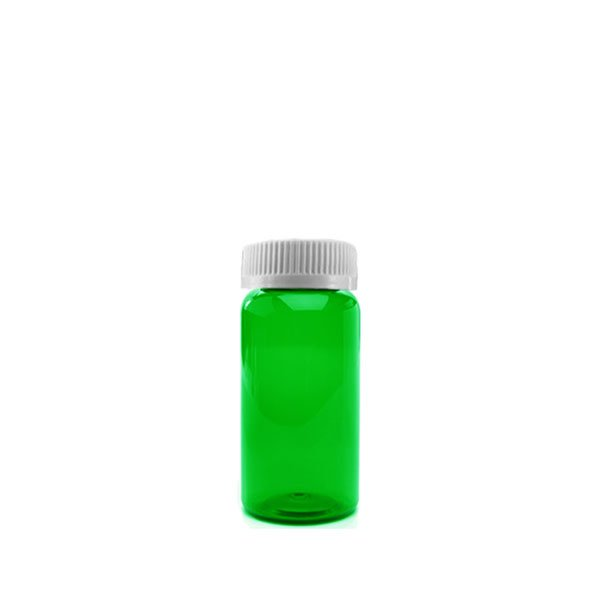 16 Dram Packer Vials with Child Resistant Caps, Green