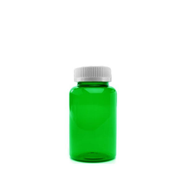 20 Dram Packer Vials with Child Resistant Caps, Green