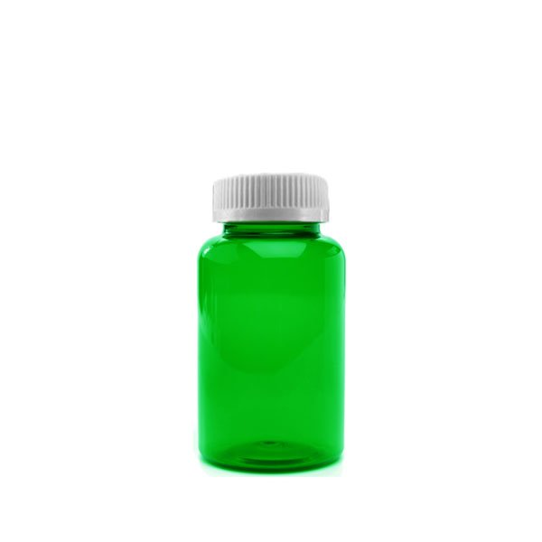 30 Dram Packer Vials with Child Resistant Caps, Green