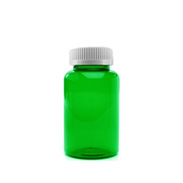 40 Dram Packer Vials with Child Resistant Caps, Green