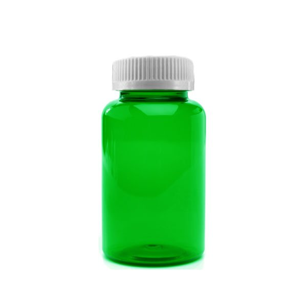 50 Dram Packer Vials with Child Resistant Caps, Green