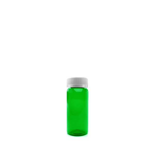 8 Dram Packer Vials with Child Resistant Caps, Green