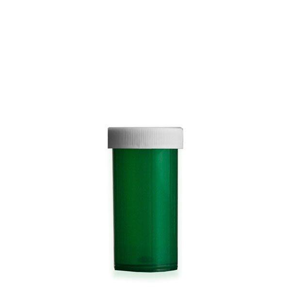 13 Dram Premium Pill Bottles with Child Resistant Caps, Green